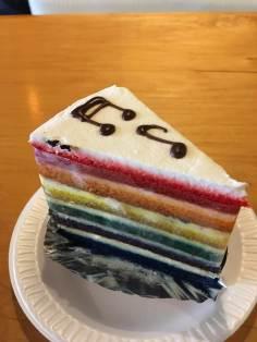 Rainbow Vanilla Cake